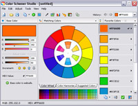 Color Schemer Studio main screen