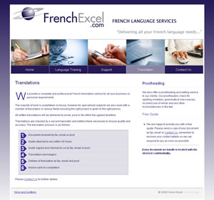 French Excel website screenshot
