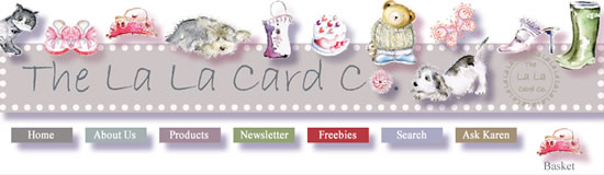 La La Card Company website screenshot
