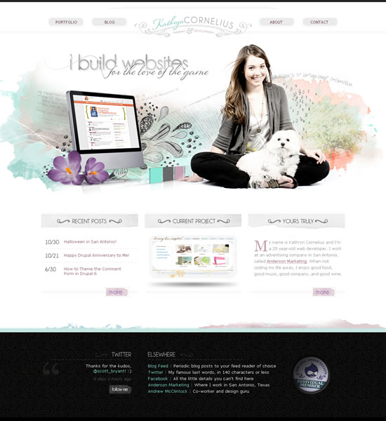 Kathryn Cornelius website screenshot