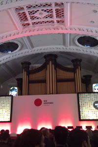 Inside the Albert Hall venue