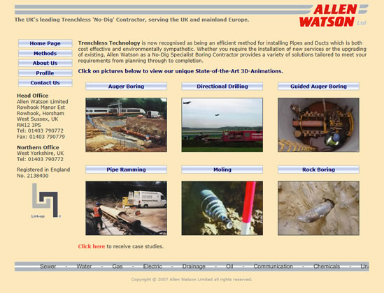 Allen Watson old website screenshot