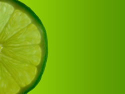Lime with green background