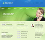Green and blue web template