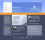 Blue and orange web template