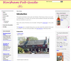 Horsham Pub Guide website