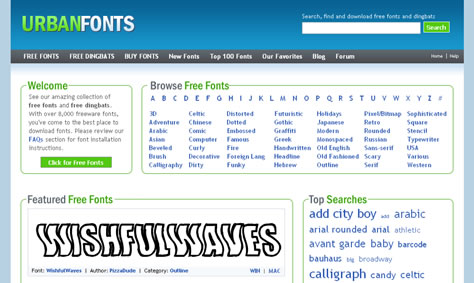 Urban Fonts screenshot